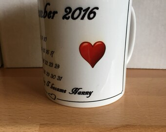 Personalised printed child birth mug for Grandparents, Parents, Uncles, Aunts