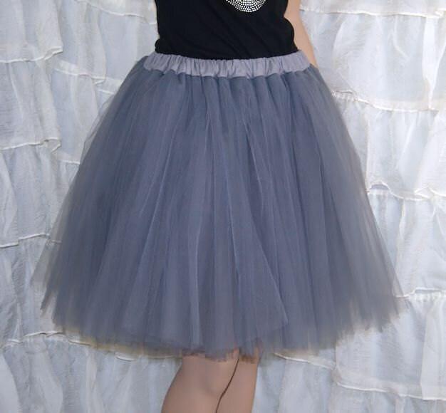Silver Romance Knee Length TuTu Skirt Adult All Sizes