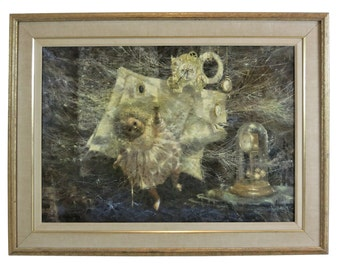 "Martin Jackson Allegorical Painting ""Lament For Yesterday"""