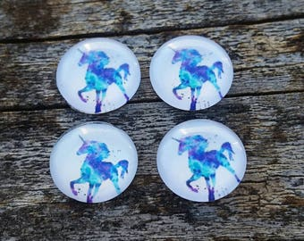 12mm Unicorn Glass Cabochon