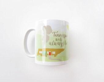 Home Sweet Home Mug | Coffee Mug | Ceramic Mug | Knoxville Mug | Tennessee Mug | Housewarming Gift | Hostess Gift | Boss Gift | Tennessee