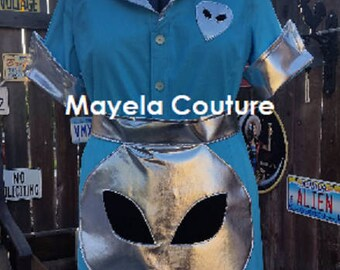 Inspired by Roswell Crashdown Waitress Dress costume cosplay- adult