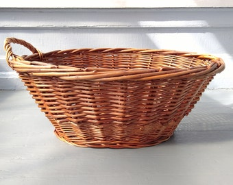 Vintage, Wicker, Laundry Basket, Display Basket, Decorative Basket, Rustic Basket, Farmhouse, Country, Home Decor, RhymeswithDaughter