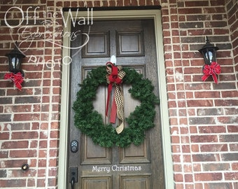 Christmas Door Decal - Merry Christmas- Holiday Front Door - Christmas decor - Vinyl wall decal - window decor