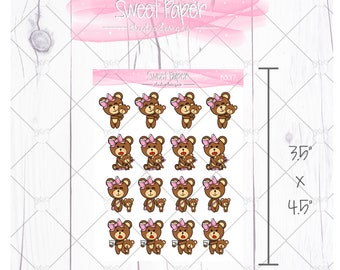 Mommy and Baby Bear Sticker B0019