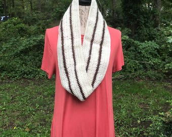 Sparkling Neutral Theme Adult Infinity Scarf