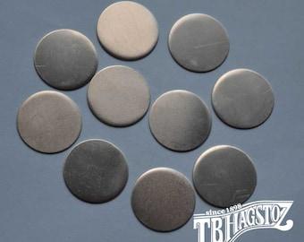 20 gauge x 7/8 inch Nickel Silver Disc 50 pieces