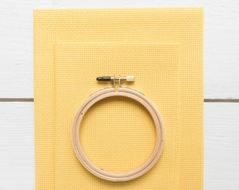 Cross Stitch Fabric - 14 count Aida Cloth | 100% Cotton Cross Stitch Embroidery Aida Fabric - Riviera Gold (14 ct)