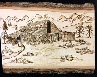 Barn close to Yellowstone Park