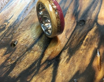 Red, wood ring,  gifts for men, men's gifts, natural jewelry, jewelry, wood