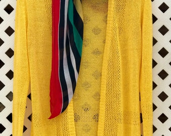 Sunny Yellow Vintage Cardigan