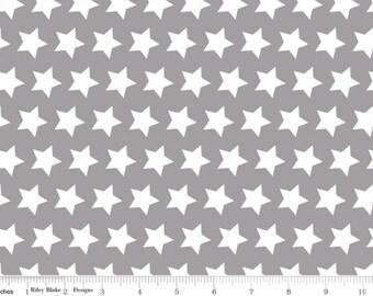 Basic Gray Stars--One Yard- Riley Blake
