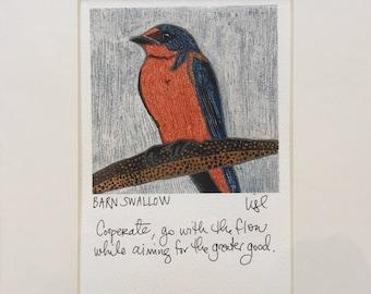 "Birdmagic: 8"" x 10"" Signed Print - BARN SWALLOW"