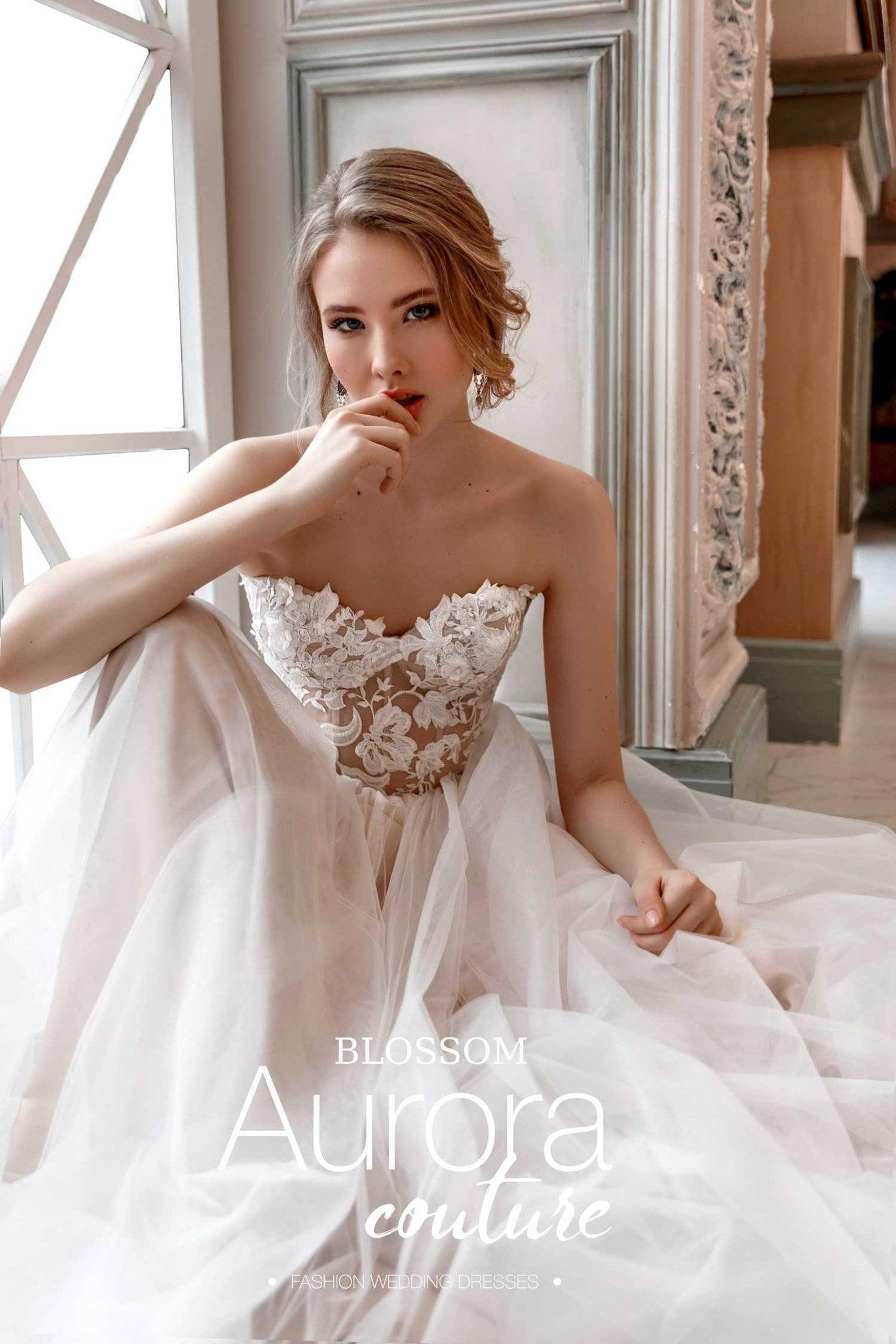 Hochzeitskleid Blüte böhmische Brautkleid Strand Brautkleid