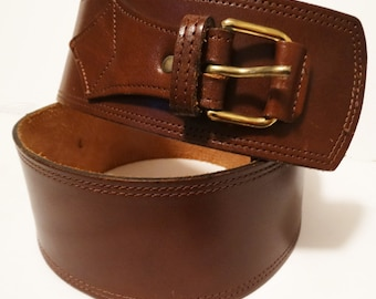 Vintage Leather Belt | Brown | Wide leather Belt | Brown Leather Belt | Leather Belt |