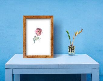 Printable Watercolor Flower Painting