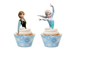Frozen Cupcake Toppers SVGs - Frozen SVG, SVG files, Elsa svg, anna svg, Frozen Cupcake toppers, frozen birthday party, elsa cupcake toppers