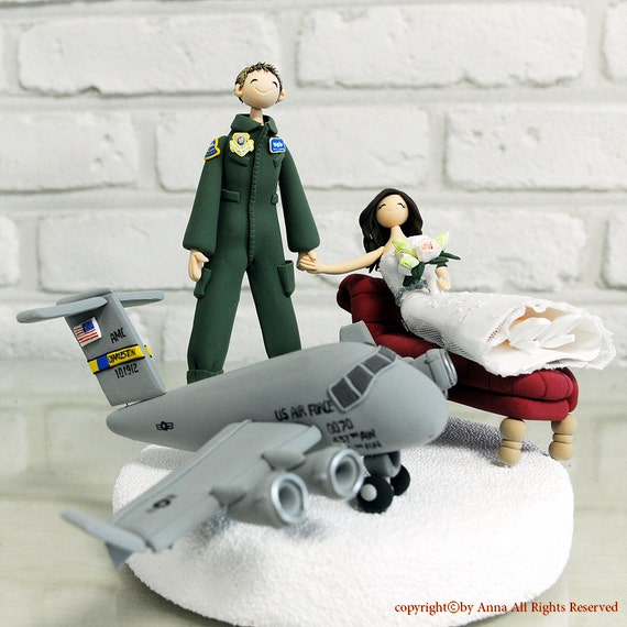 military wedding cake toppers air force custom wedding cake topper an air pilot wedding cake 17373