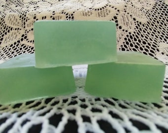Olive Oil Soap with Lime Essential Oil (0.75+ oz each- Set of 4 soaps!)