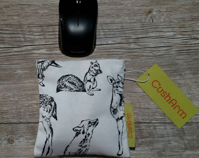 Squirrel, Deer, Fox CushArm mini Computer Wrist Support, perfect for a stand up desk, Comfort and Support