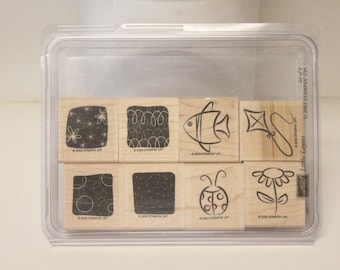 Stampin' Up! Retired Little Layers wood mounted