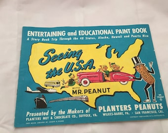 1950 Planter's Peanuts Entertaining and Educational Paint Book
