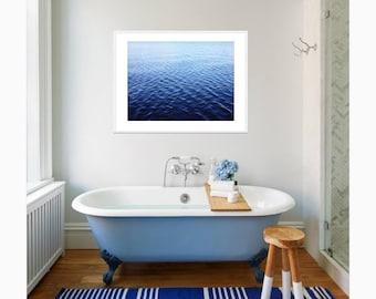 Water Photograph, BLUE OCEAN PRINT | Water Print | Digital Download | Ocean Print | Ocean Photography | Printable Art | Coastal Wall Art