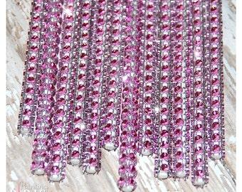Light Pink Shimmer Sticks - NEW TREND ALERT - Glam for Lollipops, Cake Pops and All Things Party - Bling Sticks