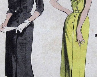 Vintage Dress Sewing Pattern Butterick 7363 Size 14