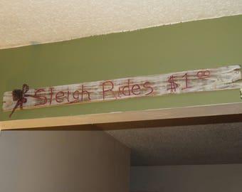 Sleigh Rides - Pallet Wood Sign