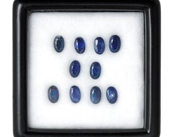 3.0 Carats 5x3mm Natural Sapphire Lot. Blue Color And Oval Cut.