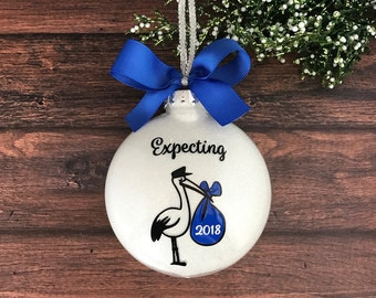 We Are Expecting Ornament, Pregnancy Ornament, Mom To Be Ornament, Expecting Christmas Ornament, Expecting Mom Gift, Expectant Parent Gift