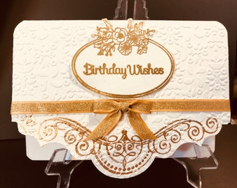 Birthday, Elegant, Handmade Greeting Card, Beautiful