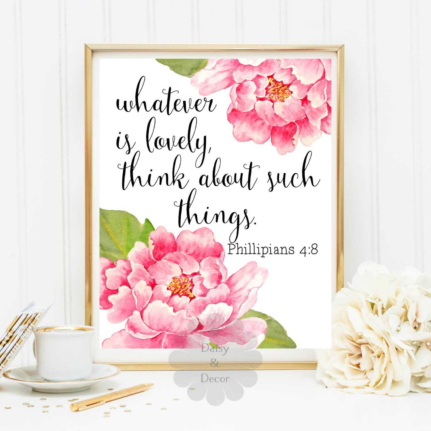 whatever is lovely think about such things Philippians 4:8