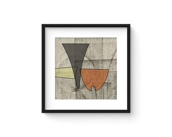 OMNIA no.7 - Abstract Modern Minimalist Mid Century Brutalist Style Art Print