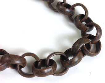 Rolo Chain, 10mm heavy links,10 foot spool, 4 colors, C668