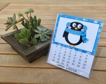 2018 Desk Calendar, 12 Months, with CD Case