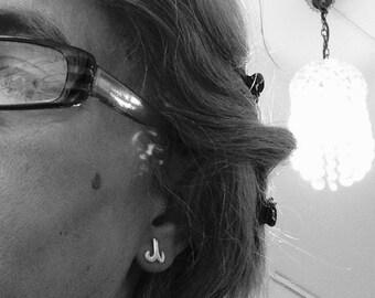 Aries Zodiac Earrings-925 silver earrings in 925 sterling silver. For Aries women and men