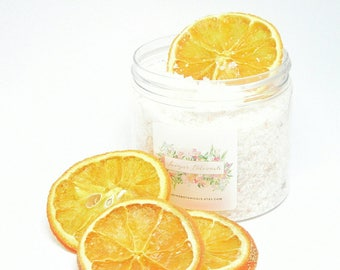 Bath Salts,Coconut and Citrus Bath Soak with essential oils | Natural Skincare | Dry Skin | Aromatherapy | Vegan Bath and Beauty Products