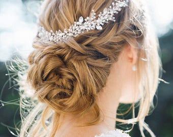 Wedding crystal comb - Bridal crystal headpiece - Wedding hairpiece - Bridal headband  - Wedding hair accessory - Wedding adornment