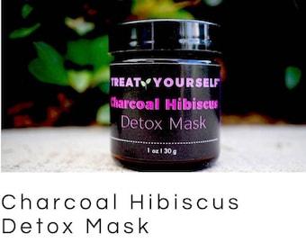 All Natural Charcoal Hibiscus Detox Mask, dsafe for sensitive skin!