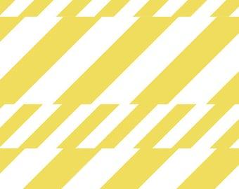 Yellow Modern Stripes  - Boardwalk Delight by Dana Willard for Art Gallery - Soda Straws - Fabric By the Half Yard