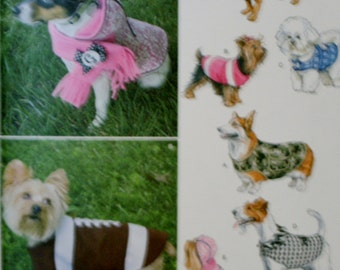Simplicity 1239 Dog Coats Sewing Pattern New/Uncut