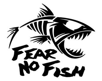 Fear No Fish Car Decal