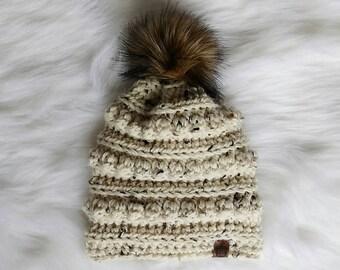 Slouchy, Slouchy Beanie, Touque, Toque, Crochet Hat, Knit Hat, Pom Pom Hat, Faux Fur, Photo Prop, Photography Prop, Baby Hat, Winter Hat
