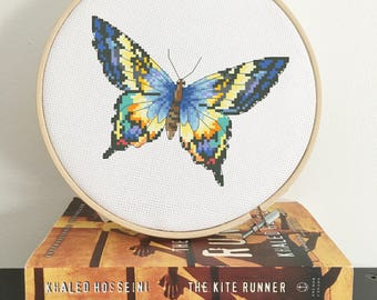 Butterfly Cross Stitch pattern, modern cross stitch pattern, PDF download