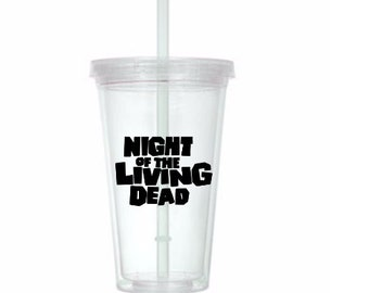 Night of the Living Dead Zombie Horror Tumbler Cup Gift Home Decor Gift for Her Him Any Color Personalized Custom Merch Massacre