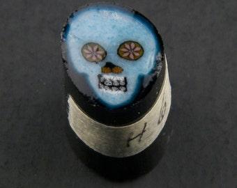 Bleu Skull par Greg Chase Murrine Boro canne 6 grammes - 144 G