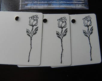 Flower COLLECTION: 10 in strong white 6 x 6 cm
