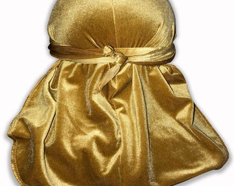 Gold Velvet Color Du-Rag -Premium Quality- Wave Cap-Durag